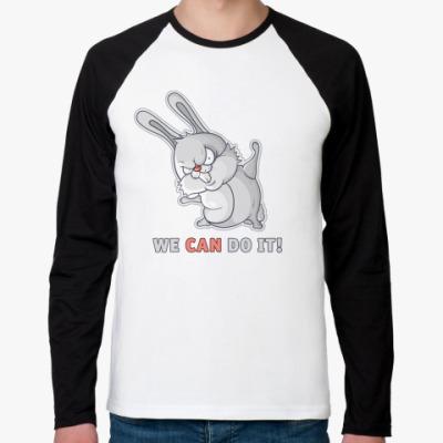 Футболка реглан с длинным рукавом White Rabbit