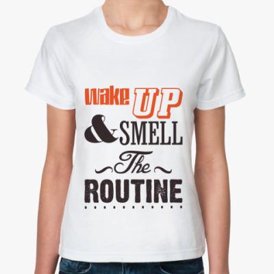 Классическая футболка 'Wake up'