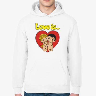 Толстовка худи Love is... Любовь это...