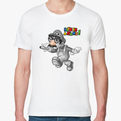 Футболка из органик-хлопка Марио - жизнь игра