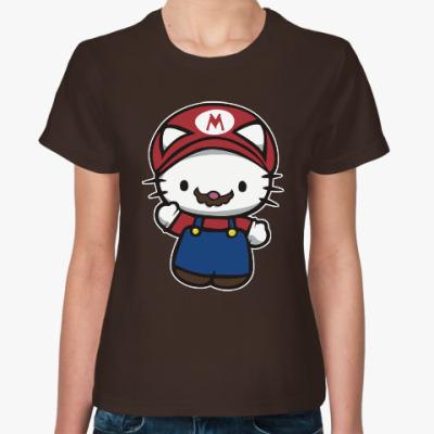 Женская футболка Китти Марио