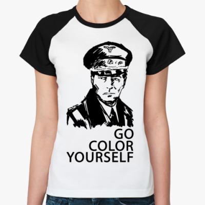 Женская футболка реглан   () Штирлиц