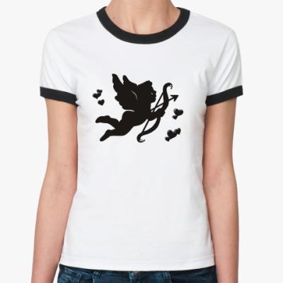 Женская футболка Ringer-T Купидон
