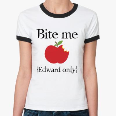 Женская футболка Ringer-T Bite me