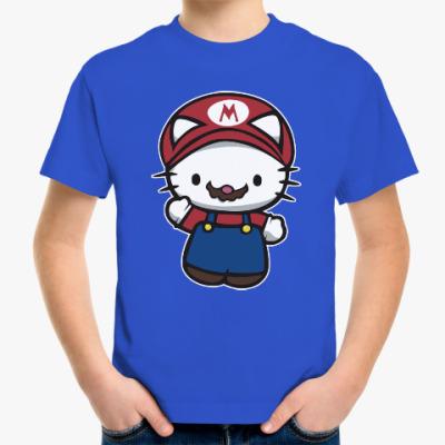Детская футболка Китти Марио