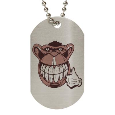 Жетон dog-tag Веселая обезьяна