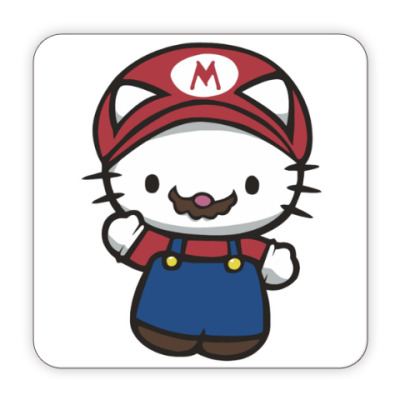 Костер (подставка под кружку) Китти Марио