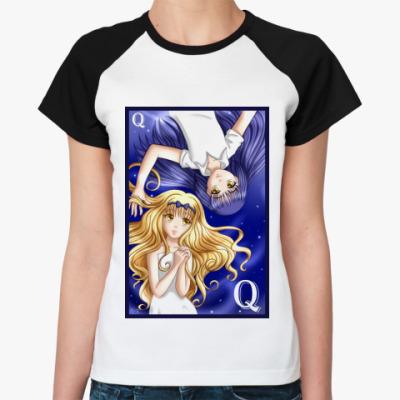 Женская футболка реглан  Shugo Chara