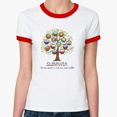 Женская футболка Ringer-T Tree Slov.
