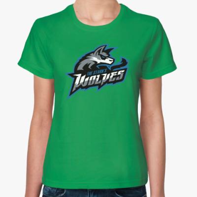 Женская футболка Волки Старков