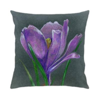 Ручной рисунок цветок крокус