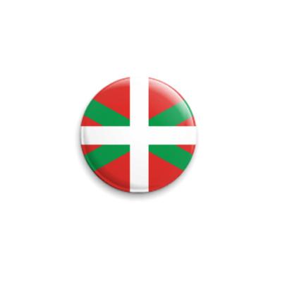 Значок 25мм Флаг Страны Басков