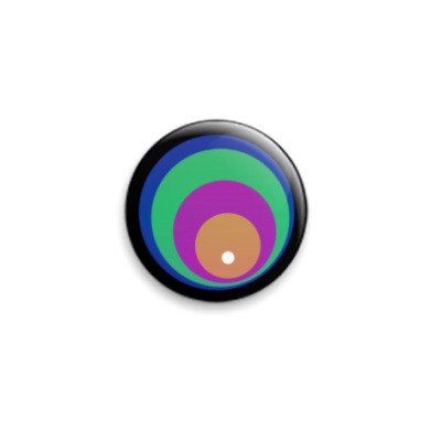 Значок 25мм круги