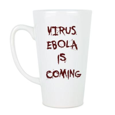 Чашка Латте Virus Ebola is Coming