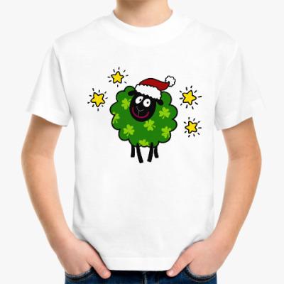 Детская футболка Новогодняя овечка
