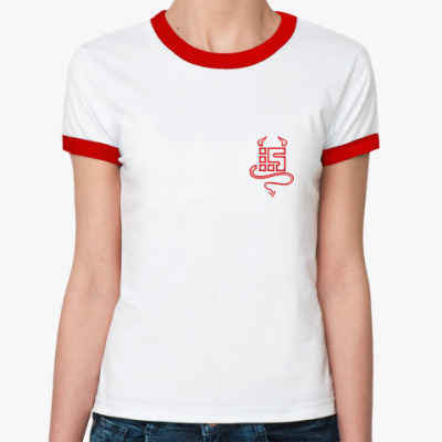 Женская футболка Ringer-T Diablo