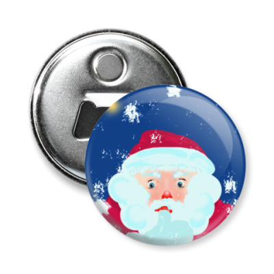 Магнит-открывашка Дед Мороз задумался