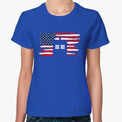 Женская футболка Tardis USA