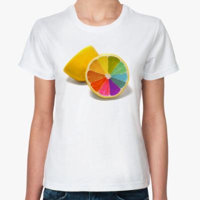 Классическая футболка Разноцветный лимон