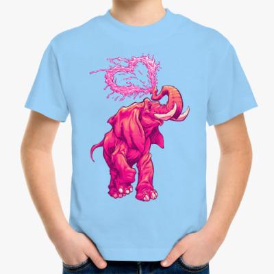 Детская футболка Счастливый слоник