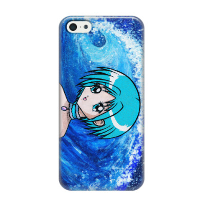 Чехол для iPhone 5/5s Ocean Anime Girl