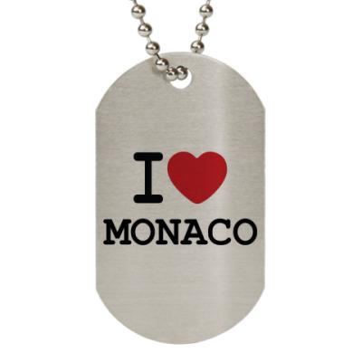 Жетон dog-tag I Love Monaco