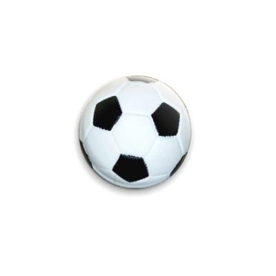 Значок 25мм  Футбольный мяч