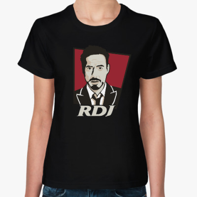 Женская футболка Роберт Дауни