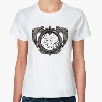Классическая футболка герб с черепом