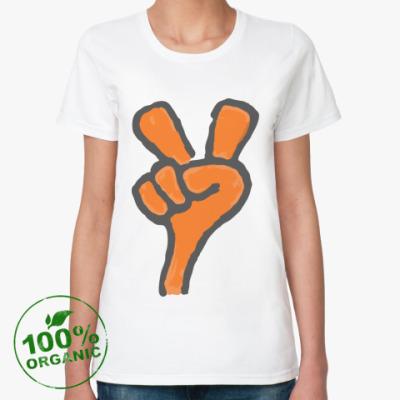 Женская футболка из органик-хлопка Peace