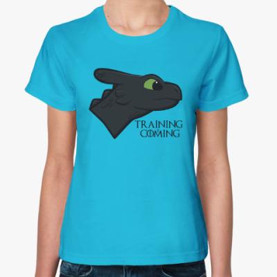 Женская футболка Обучение скоро