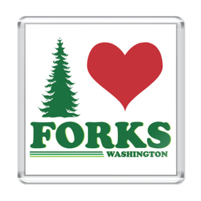 Магнит I love Forks.WA