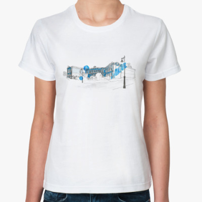 Классическая футболка The blue house