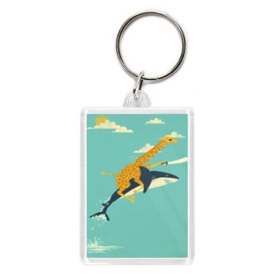 Брелок Жираф+акула