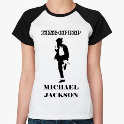 Женская футболка реглан 'Майкл Джексон'