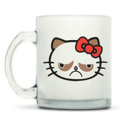 Кружка матовая Hello Grumpy Cat