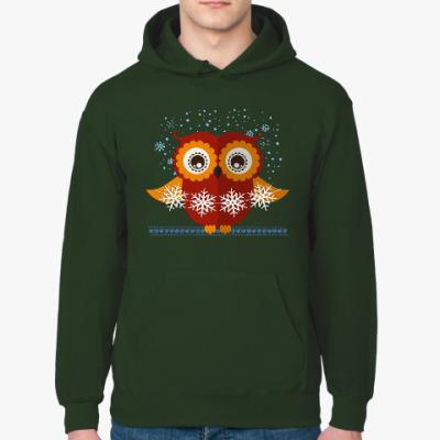 Толстовка худи Зимняя сова