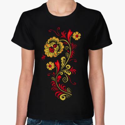 Женская футболка Хохолома