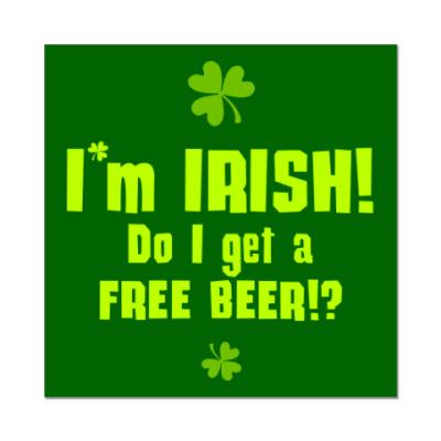 Наклейка (стикер) I'm Irish!