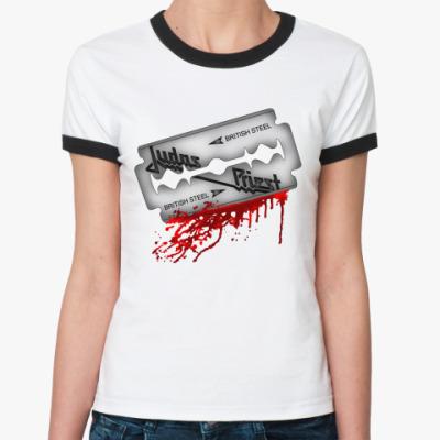 Женская футболка Ringer-T Judas Priest