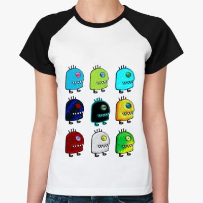 Женская футболка реглан  UFO