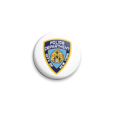 Значок 25мм  NYPD