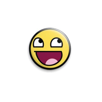 Значок 25мм Awesome Smiley