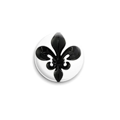 Значок 25мм  Fleur de Lys