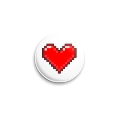 Значок 25мм Любовь