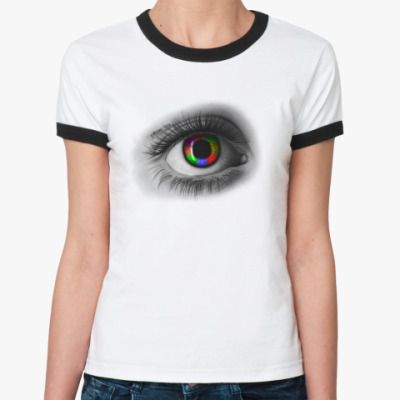 Женская футболка Ringer-T Colorful eye