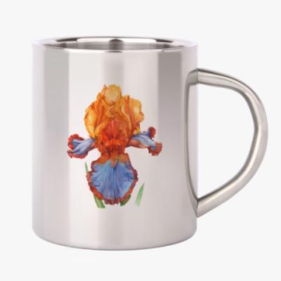 Цветок ирис акварель
