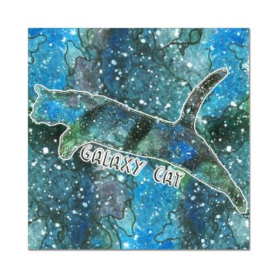 Наклейка (стикер) Галактический кот