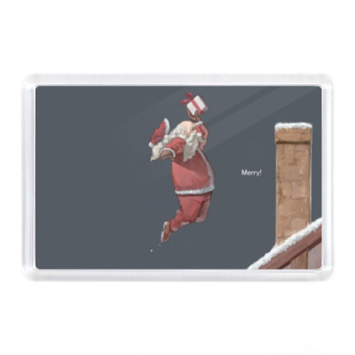 Магнит Дед мороз, Санта Клаус