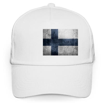 Кепка бейсболка 'Финский флаг'